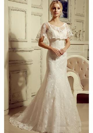 Rosalie robe mariée avec ou sans cape
