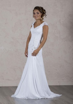 Eclatante robe de mariée