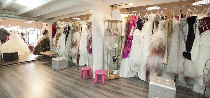Espace essayage des robes de mariée
