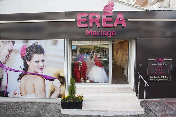 Façade boutique Erea Mariage